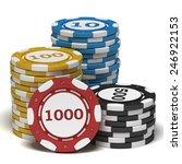 stacks of casino chips. | Shutterstock . vector #246922153