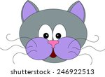 cat vector. | Shutterstock .eps vector #246922513