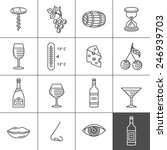 wine icons set   procurement ... | Shutterstock .eps vector #246939703