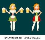 oktoberfest girls female... | Shutterstock .eps vector #246940183