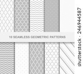 10 seamless geometric patterns. ... | Shutterstock .eps vector #246944587