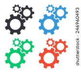 cogwheel gear mechanism... | Shutterstock .eps vector #246960493
