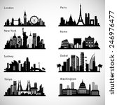 City Skyline Set. Vector...