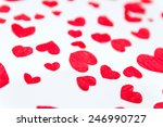 hearts of the red paper ...   Shutterstock . vector #246990727