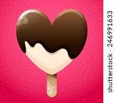 delicious vanilla ice cream... | Shutterstock .eps vector #246991633