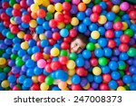 happy kid playing in playground | Shutterstock . vector #247008373