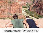 Hikers At Angels Landing...