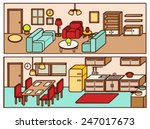 set of adjustable interior... | Shutterstock .eps vector #247017673