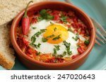 Eggs Poached In Tomato Sauce...