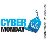 cyber monday sale sign with... | Shutterstock .eps vector #247029823