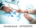 business people discussing the... | Shutterstock . vector #247035493
