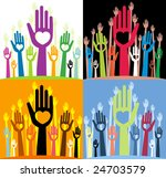 vector pack of happy... | Shutterstock .eps vector #24703579