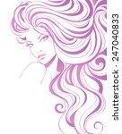 fashion girl    Shutterstock .eps vector #247040833