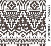 vector seamless tribal pattern. ... | Shutterstock .eps vector #247053313