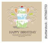 birthday invitation. vector | Shutterstock .eps vector #247060753