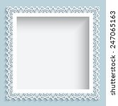 square vector frame with paper... | Shutterstock .eps vector #247065163