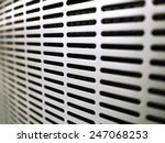white  metal ventilation louver ... | Shutterstock . vector #247068253