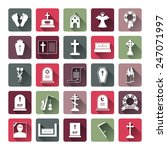 assorted colored funeral icon... | Shutterstock .eps vector #247071997
