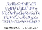 alphabet   3d letters from blue ... | Shutterstock . vector #247081987