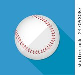 baseball icon great for any use.... | Shutterstock .eps vector #247093087