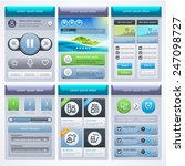 ui design. elements for mobile...