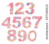 number set made of stars.... | Shutterstock .eps vector #247100413