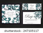 set abstract card  card or... | Shutterstock . vector #247105117
