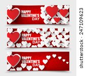 collection happy valentines day ... | Shutterstock .eps vector #247109623