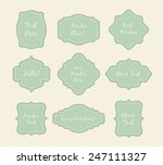 set of vintage stickers light... | Shutterstock .eps vector #247111327
