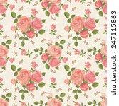 roses wallpaper seamless pattern | Shutterstock .eps vector #247115863