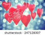 happy valentines day against... | Shutterstock . vector #247128307