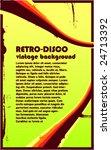 retro disco vintage background  ... | Shutterstock .eps vector #24713392