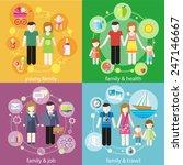 family with children kids... | Shutterstock .eps vector #247146667