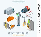 Construction Objects Set Flat...