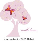 love tree with butterflies.... | Shutterstock .eps vector #247148167
