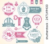set love wedding and valentine... | Shutterstock .eps vector #247149433