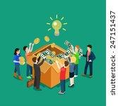 business idea crowdfunding... | Shutterstock .eps vector #247151437