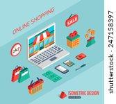 e commerce and online shopping. ... | Shutterstock .eps vector #247158397