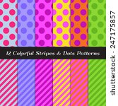 colorful polka dots and candy... | Shutterstock .eps vector #247175857