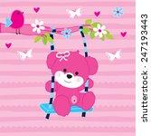 lovely teddy bear girl in the...   Shutterstock .eps vector #247193443
