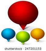 set of oval speech or talk... | Shutterstock .eps vector #247201153