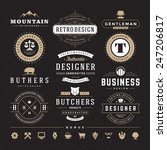 retro vintage insignias or... | Shutterstock .eps vector #247206817