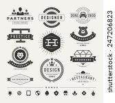 retro vintage insignias or... | Shutterstock .eps vector #247206823