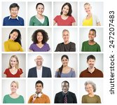 people diversity faces human... | Shutterstock . vector #247207483