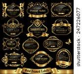gold framed labels set 10 | Shutterstock .eps vector #247226077