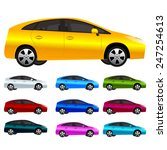 set of modern car vector in... | Shutterstock .eps vector #247254613