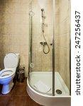 interior of a modern bathroom....   Shutterstock . vector #247256437