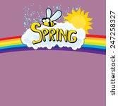 cartoon spring word  flowers...   Shutterstock .eps vector #247258327