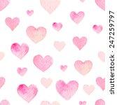 watercolor seamless vector... | Shutterstock .eps vector #247259797