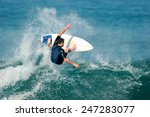 a surfer boosts a radical... | Shutterstock . vector #247283077